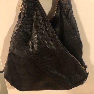 Botkier Leather /snakeskin shoulder handbag